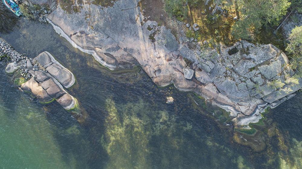 AARK shoreline drone view