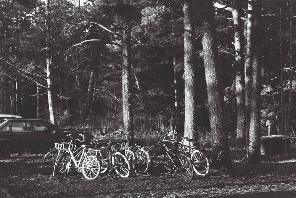 Bikes outside AARK residency in Korpo