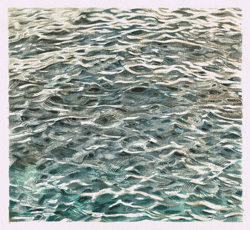 Brian Cheung painting of the sea II
