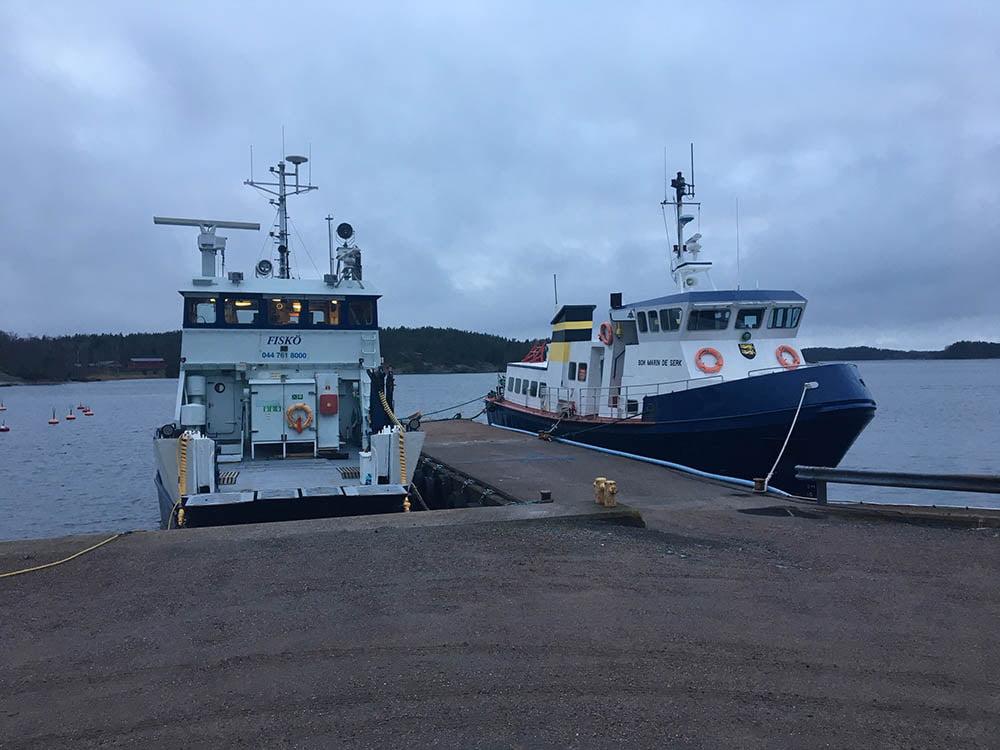 Fisko-ferry-in-Nagu-by-Gill-Crabbe