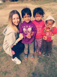 With Manamaiju children, Nepal